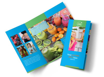 Nutrition Education Tri-Fold Brochure Template preview