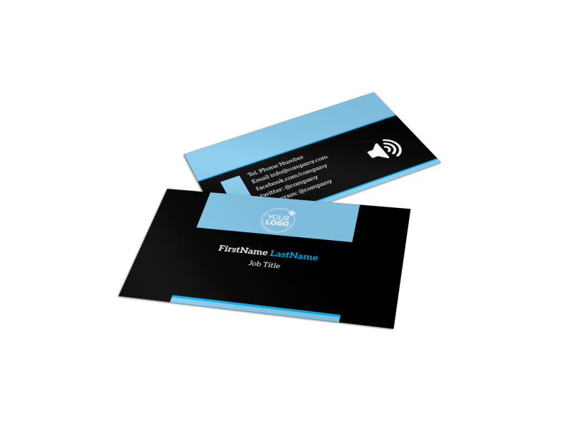 Upscale Fitness Gym Business Card Template Preview 1