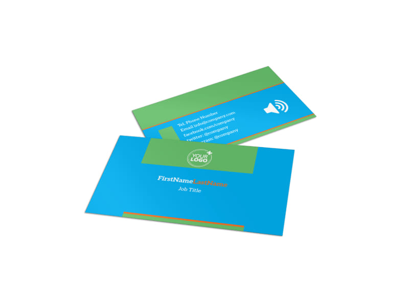 Nutrition Education Business Card Template | MyCreativeShop