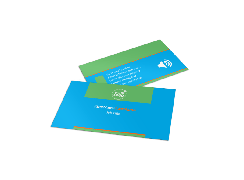Nutrition Education Business Card Template Preview 1