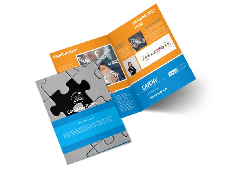 HR Consulting Bi-Fold Brochure Template 2
