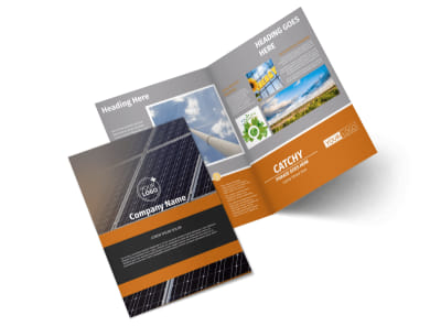 Clean Energy Consulting Bi-Fold Brochure Template 2