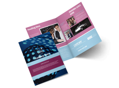 Party Transportation Bi-Fold Brochure Template 2