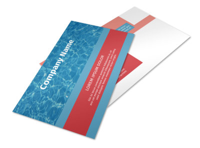 Pool Cleaning Service Postcard Template 2