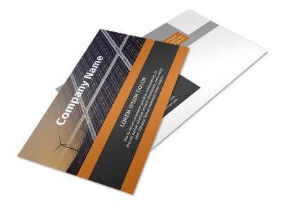 Clean Energy Consulting Postcard Template 2