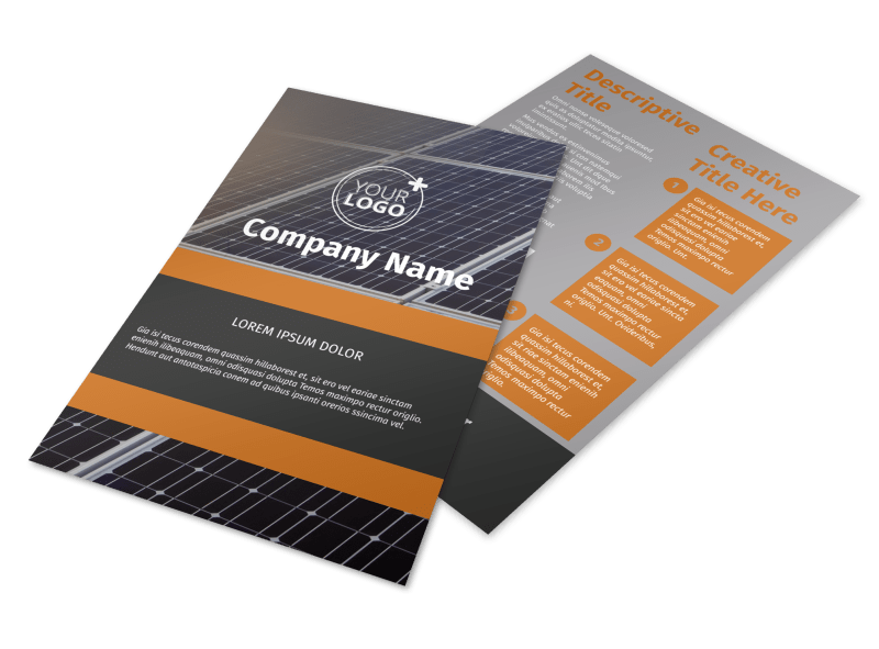 Clean Energy Consulting Flyer Template Preview 1