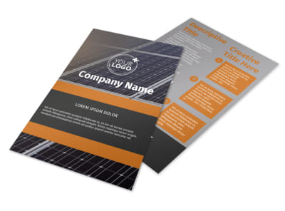 Clean Energy Consulting Flyer Template 3 preview