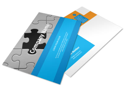 HR Consulting Postcard Template preview