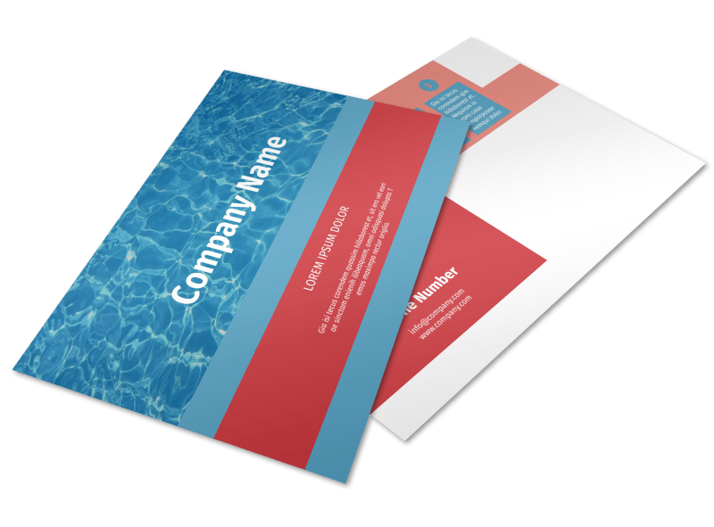 Pool Cleaning Service Postcard Template Preview 1
