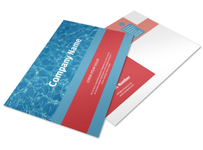 Pool Cleaning Service Postcard Template preview