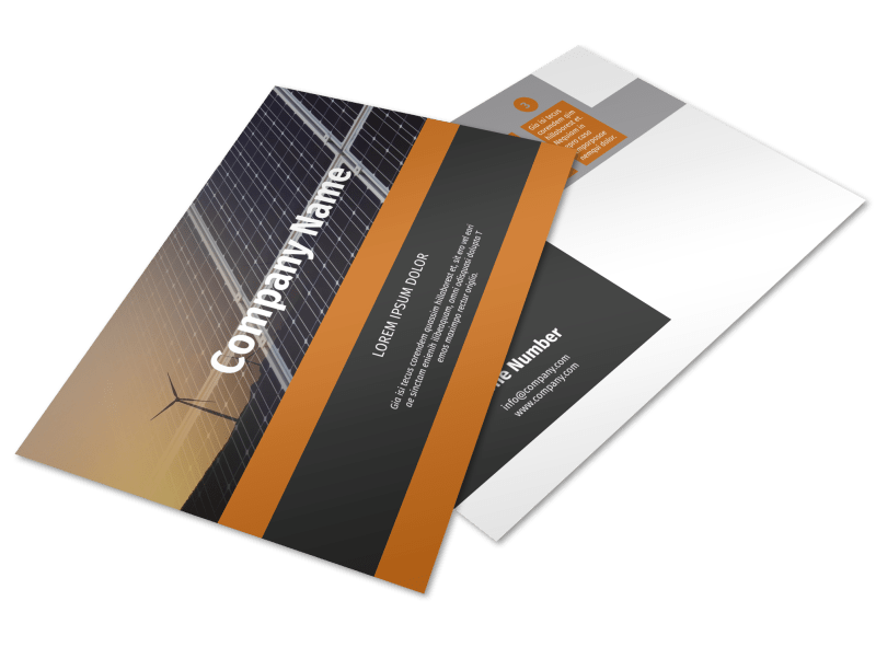 Clean Energy Consulting Postcard Template Preview 1