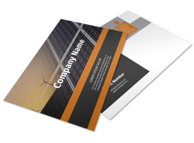 Clean Energy Consulting Postcard Template preview