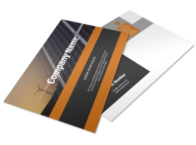 Clean Energy Consulting Postcard Template