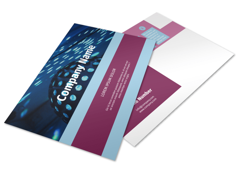 Party Transportation Postcard Template Preview 1