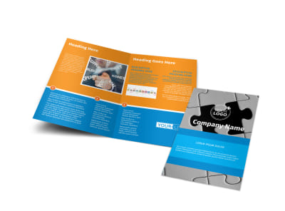HR Consulting Bi-Fold Brochure Template