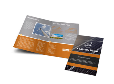 Clean Energy Consulting Bi-Fold Brochure Template preview