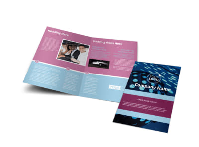 Party Transportation Bi-Fold Brochure Template