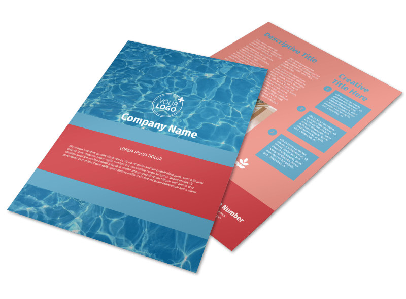 Pool Cleaning Service Flyer Template Preview 4