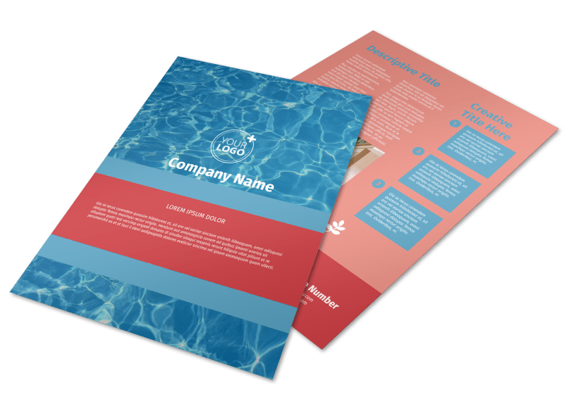 Pool Cleaning Service Flyer Template Preview 1