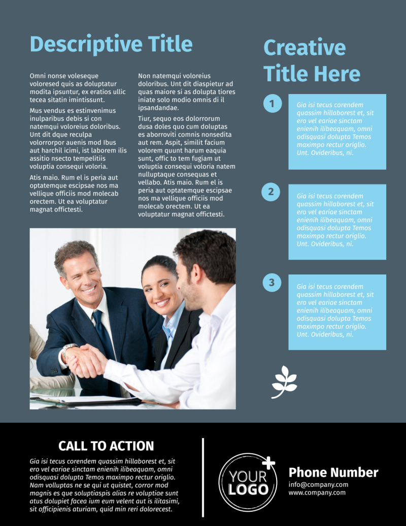 Mergers & Acquisition Firm Flyer Template Preview 3
