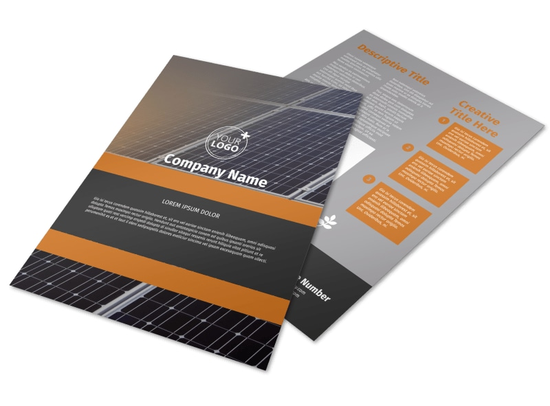 Clean Energy Consulting Flyer Template