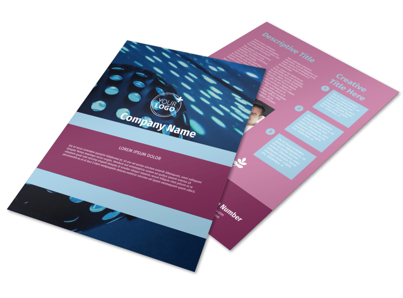 Party Transportation Flyer Template Preview 1