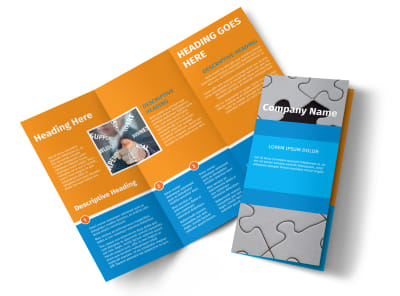 HR Consulting Tri-Fold Brochure Template