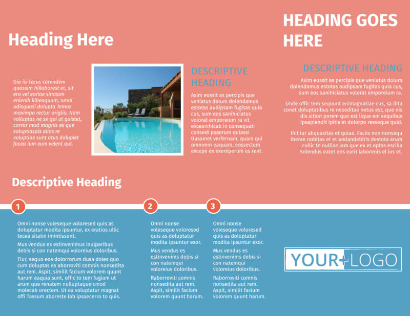 Pool Cleaning Service Brochure Template Preview 3