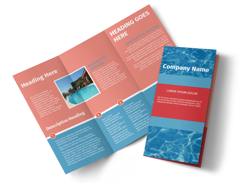 Pool Cleaning Service Brochure Template Preview 1