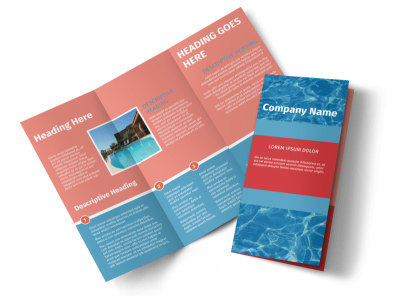 Pool Cleaning Service Tri-Fold Brochure Template