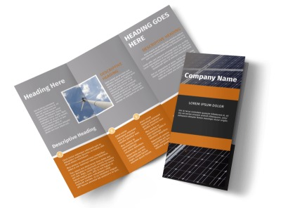 Clean Energy Consulting Tri-Fold Brochure Template preview