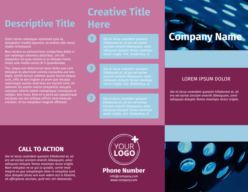 Party Transportation Brochure Template Preview 2
