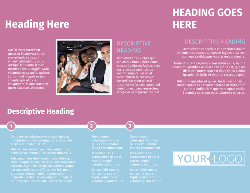 Party Transportation Brochure Template Preview 3