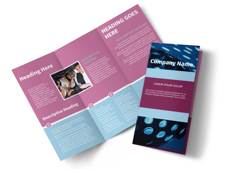 Party Transportation Brochure Template Preview 1