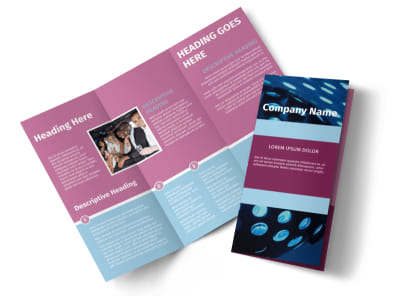 Party Transportation Tri-Fold Brochure Template