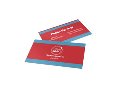 Pool Cleaning Service Business Card Template