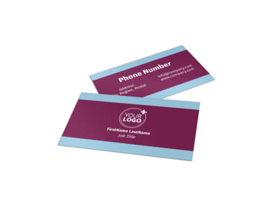 Party Transportation Business Card Template