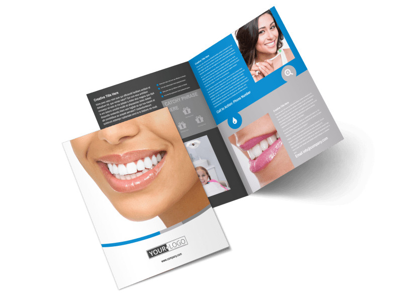 Dentistry & Dental Office Bi-Fold Brochure Template 2
