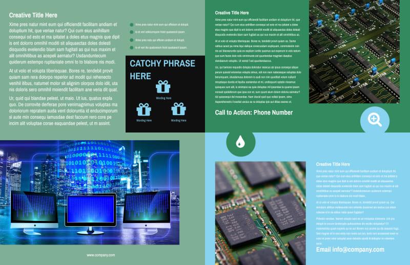 Computer Repair Shop Brochure Template Preview 3