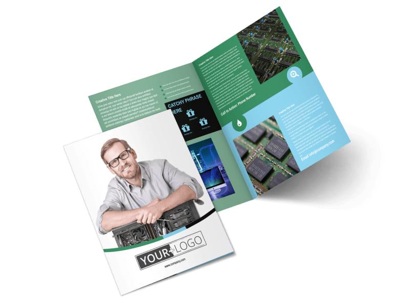 Computer Repair Bi-Fold Brochure Template 2