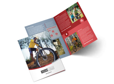 Bike Repair Shop Bi-Fold Brochure Template 2