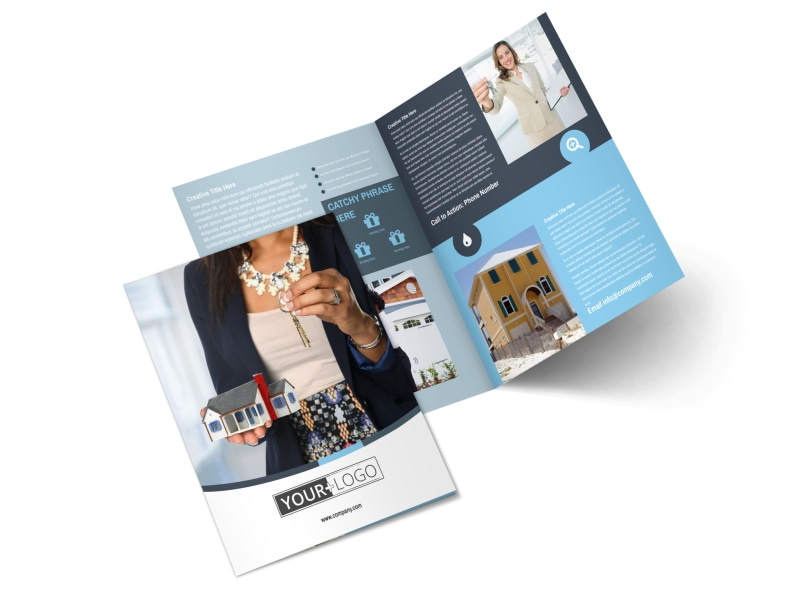 Reliable Property Management Bi-Fold Brochure Template 2