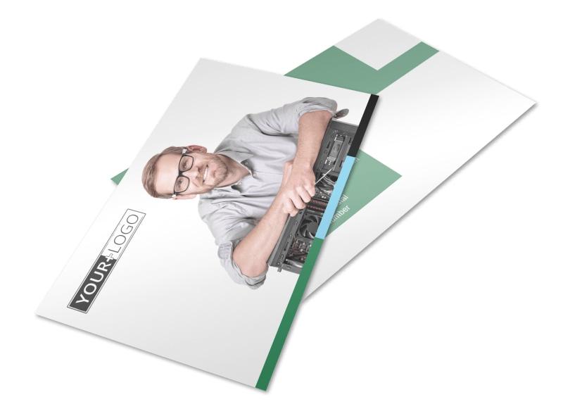 Computer Repair Postcard Template 2