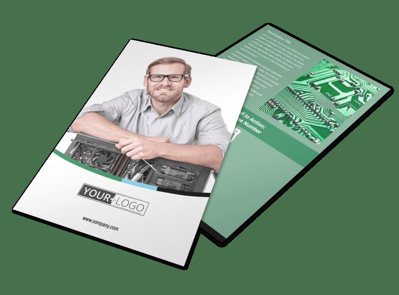 Computer Repair Shop Flyer Template Preview 1