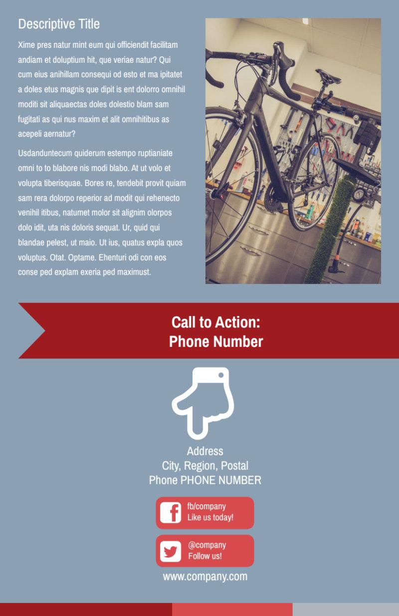 Bike Repair Shop Flyer Template Preview 3