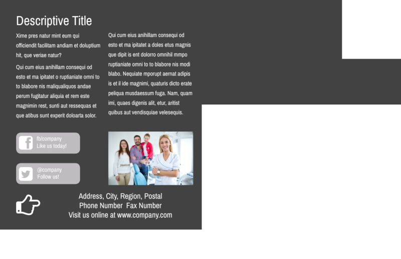 Clean Dental Care Postcard Template Preview 3