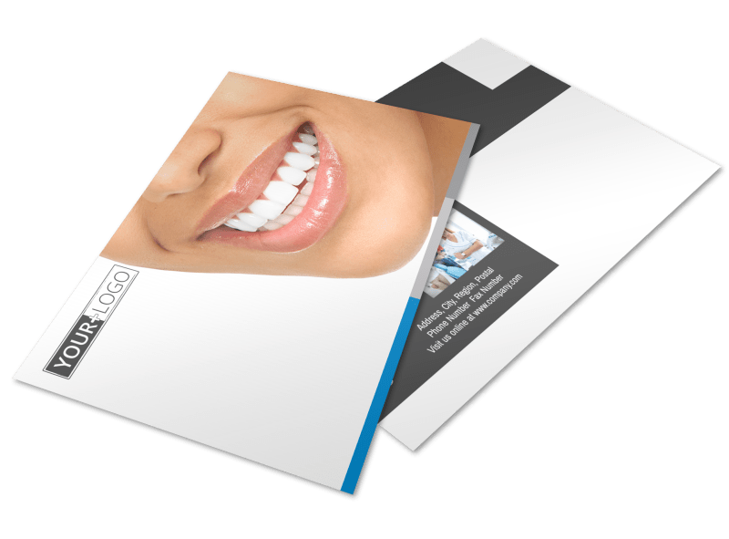 Clean Dental Care Postcard Template Preview 1