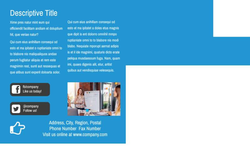 Language Learning Service Postcard Template Preview 3