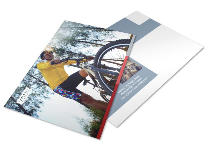Bike Repair Shop Postcard Template