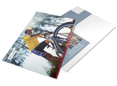 Bike Repair Shop Postcard Template preview